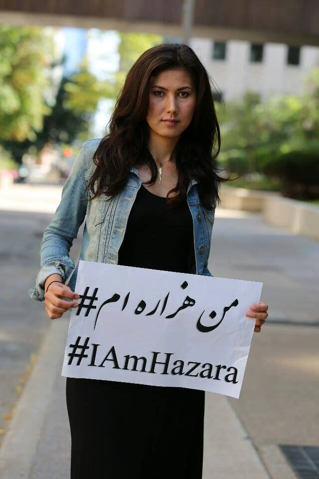 Hazara girl, who remembers the threat of slaughtering many tribe-people, because of their convictions, by IS?