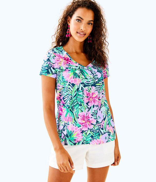 7bde65ba91625a Etta V-Neck Top | Lily Pulitzer | Tops, V neck tops, Floral tops