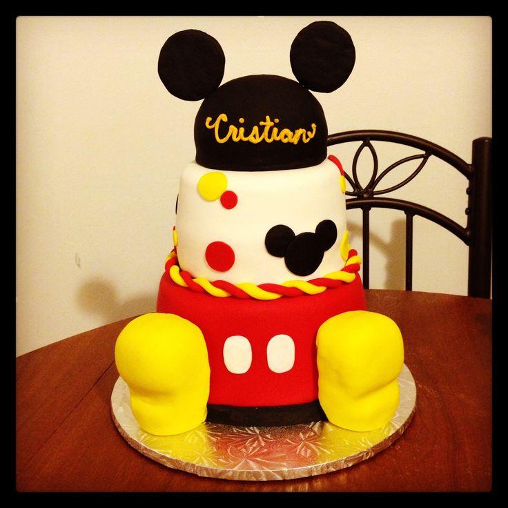Mickey Mouse 1st Birthday Cake - First birthday cake :-)