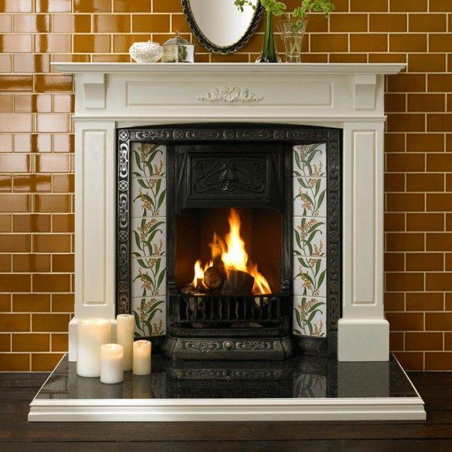 Albert S Mustard Yellow Victorian Fireplace Tiles Victorian Fireplace Fireplace Tile