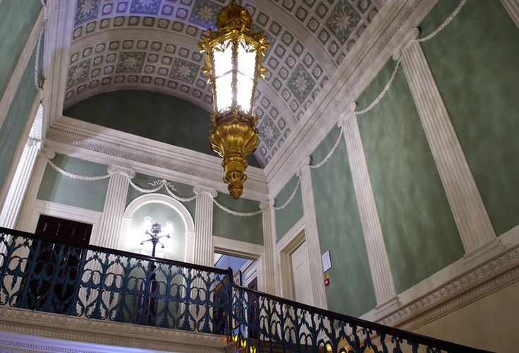 Arrival into the Staircase Hall provides a sense of the scale of Spencer House with the staircase leading up to the first floor.