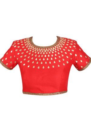 Red Embroidered Blouse Preview