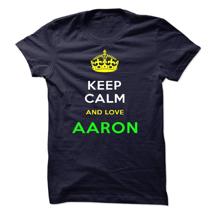 #Sportstshirt... Nice T-shirts  Worth :$19.00Purchase Now    Low cost Codes   View pictures & photographs of Keep Calm And Love AARON t-shirts & hoodies:In the event you don't completely love our design, you'll be able to SEARCH your favourite one through the u....