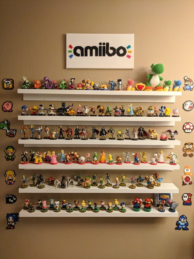 Perler Nintendo Designs And Custom Made Perler Amiibo Logo Sign Ikea Mosslanda Picture Shelf