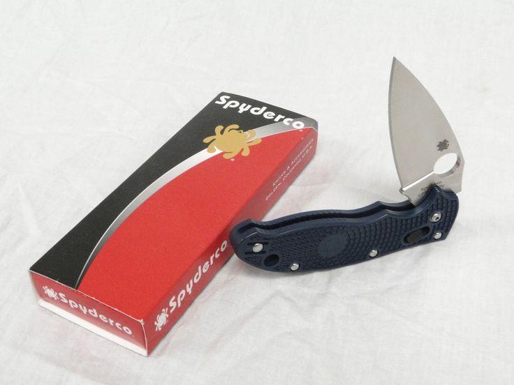 Spyderco Knives Manix II 2 Two Dark Blue Folding Knife Folder Lock-Blade Hunting #Spyderco #Knives Knife  1130