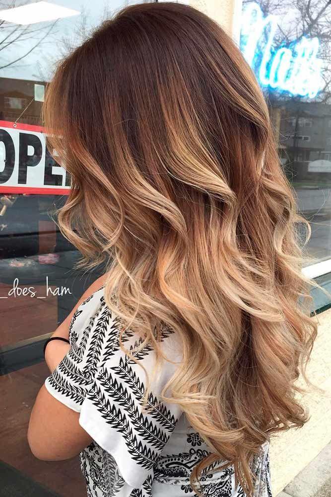 Амбре фотографии волос