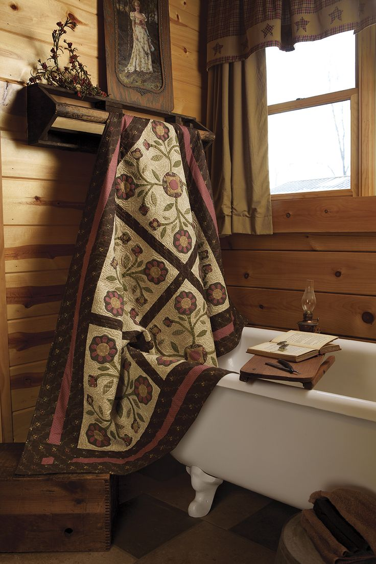 Beautiful quilt, and beautiful picture of a quilt ... Primitive Quilts and Projects: Spring 2013