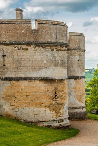 Rockingham Castle. The medieval gatehouse towers