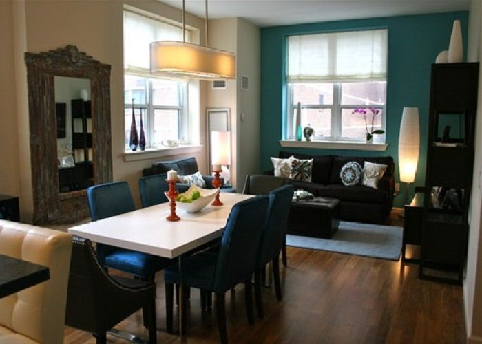 Are You Dizzy Think About The Accent Wall Painting Color Ideas for Your House? This is Cure for You! : Open Dining To Living Room With Teal ...