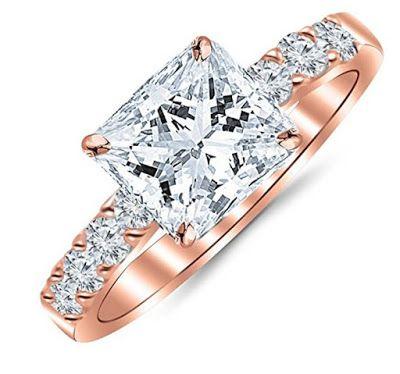 1.10 Carat Princess Cut/Shape 14K Gold Diamond Engagement Ring         100% Natural, un-treated , conflict free diamonds.  Cost AU$2295 app...