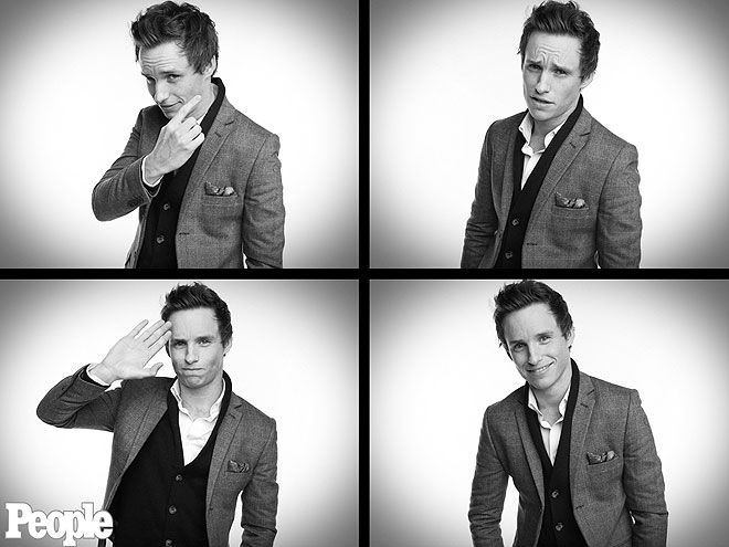EDDIE REDMAYNE    What is this, a GQ photo shoot? Dapper Les Misérables star Redmayne does his best male model impression backstage at the ceremony.