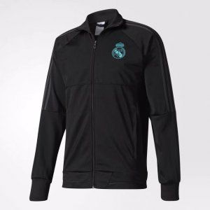 2017 Cheap Training Jacket Real Madrid Replica Black Uniform [AFC544]