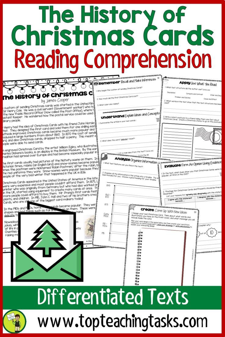 The History Of Christmas Cards Reading Comprehension Passages And Questions Your Up Reading Comprehension Passages Reading Comprehension Comprehension Passage [ 1102 x 736 Pixel ]