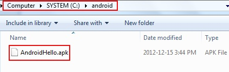 Build Android application package file (APK) using Eclipse IDE and Android Developer Tools (ADT) Plugin - srccodes.com