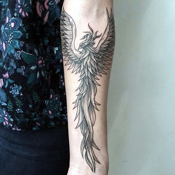 40 New Phoenix Tattoo Designs For 2016 - Bored Art