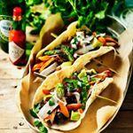 Tacos med svarta bönor & rostad sötpotatis - Vegourmet
