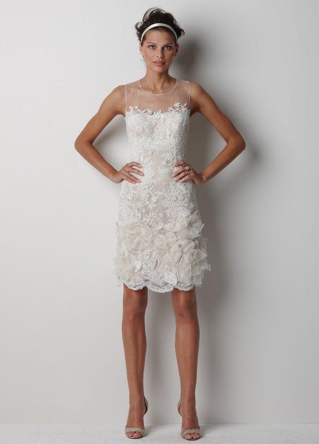 32 best short wedding dresses images on pinterest for Dresses for wedding rehearsal dinner