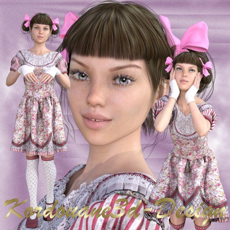 "Madeleine : Tube ""petite fille modèle"""