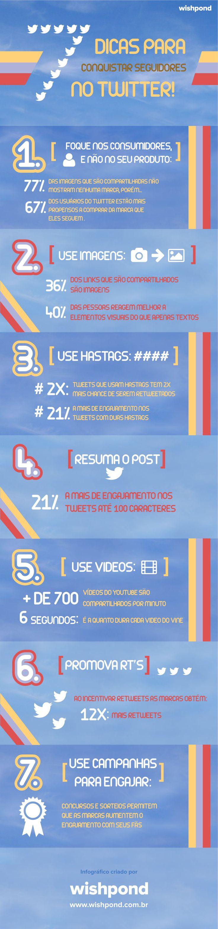 Infográfico: 7 dicas para conquistar seguidores no Twitter.