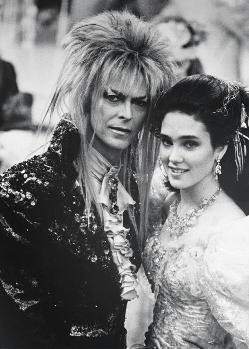 "David Bowie and Jennifer Connelly in ""Labyrinth"", the Goblin King"