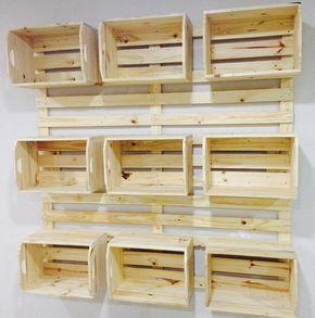 Painel de caixotes ✅👌🏼♻️ #painel #caixotes #palete #pinus #pallet #p