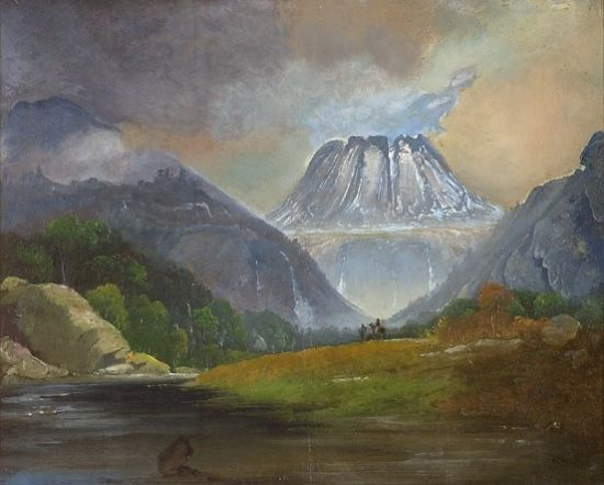 Peder Balke (Norwegian, 1804-1887) - Gaustadtoppen, 1858