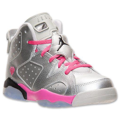 Girls' Preschool Air Jordan Retro 6 Basketball Shoes. Did you know Michael  Jordan holds