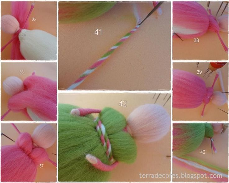 Fairy felted (waldorf doll) tutorial by TERRA DE CORES
