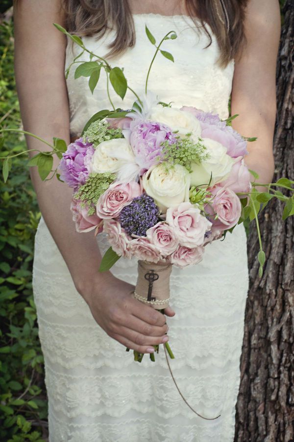 bouquet with key charm #wedding #bridal #bouquet #key #charm #flowers