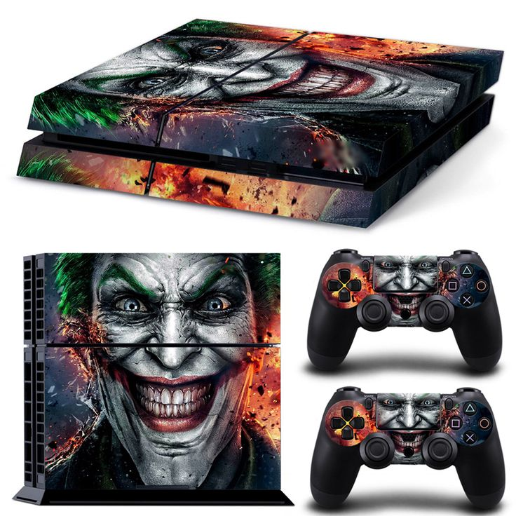 #Playstation4 Console Vinyl Decal Skin Cover & #PS4 Remote Controllers Skin Stickers - #TheJokerSmile #Clown Prince of Crime - Geek Monkeyz Gadgets