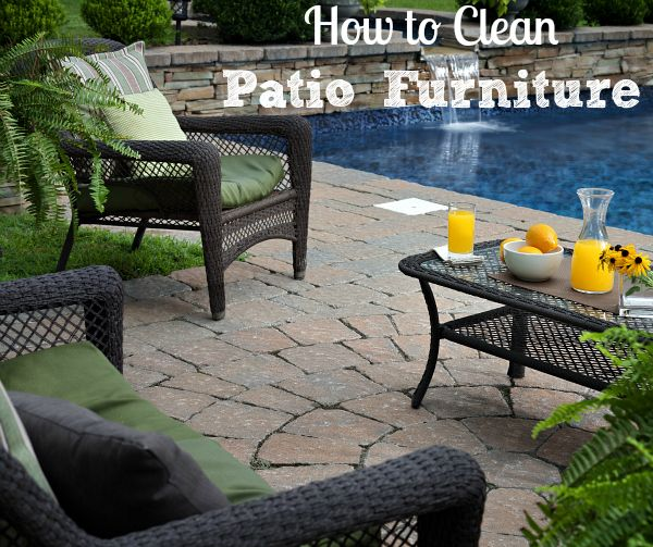 How To Clean Patio Furniture, Outdoor Cushions And Rugs