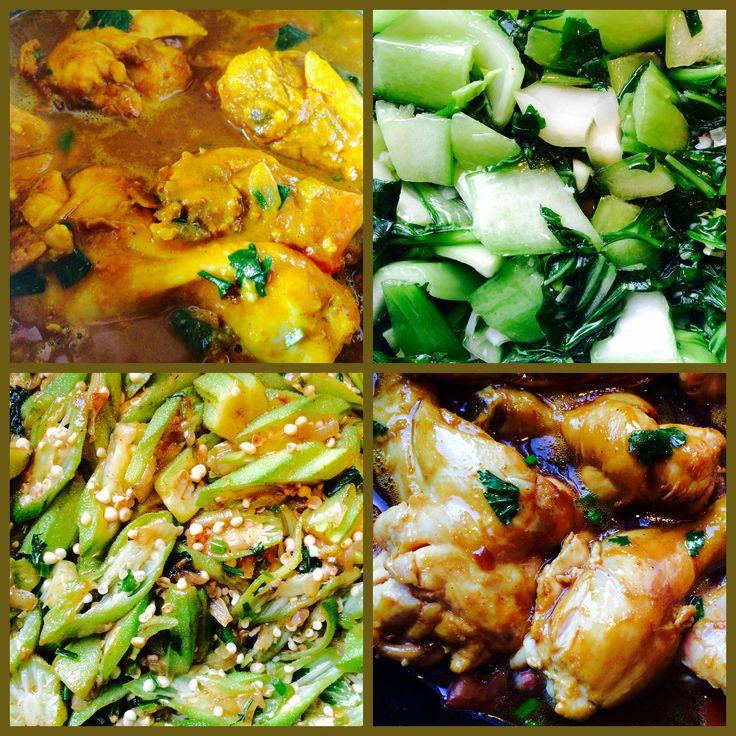 #Tumeric# #Chicken#, #Bok Choy#, #Ochres# & #Soy Sauce# Chicken  (#Kip# #Koenjit#, #Paksoi#, #Okers# & Ketjap Kip #Surinamese Food# #Caribbean Food# #Surinaams#