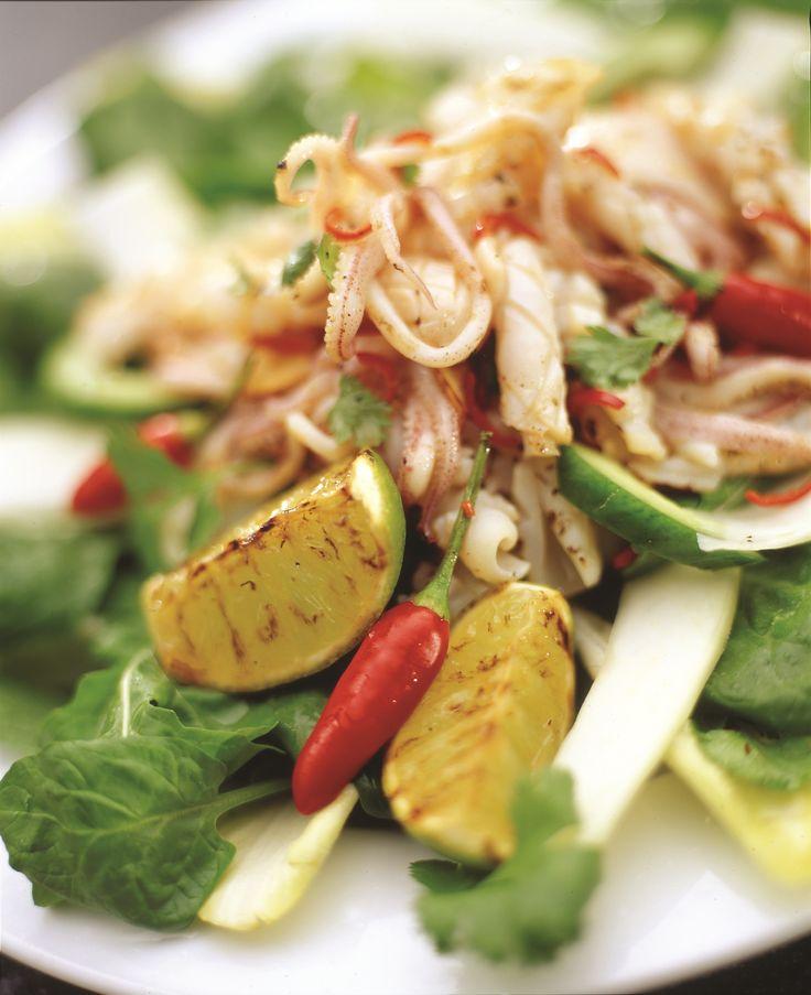 Thai-style squid salad (Thai class)