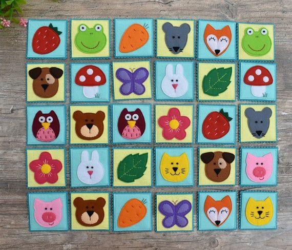 brinquedos educativos em feltro jogo da memória