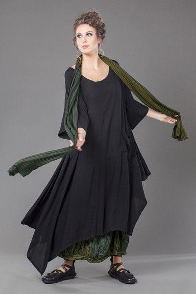 jade dress in black crinkle ausgefallene kleidung. Black Bedroom Furniture Sets. Home Design Ideas