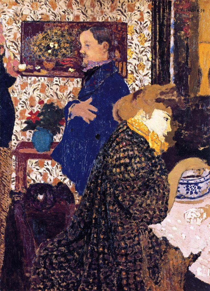 Misia and Vallotton at Villeneuve (Edouard Vuillard - 1899)