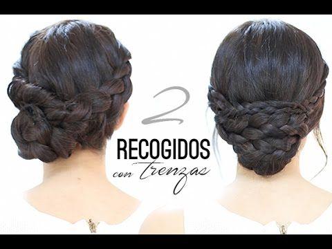 """M ♥ ♥ LÉEME / DESPLIEGAME ♥ ♥ RECOGIDOS CON TRENZAS """"FÁCILES"""" Hoy os voy a enseñar unos peinados con recogidos fáciles con trenzas para un evento, para una fie..."""