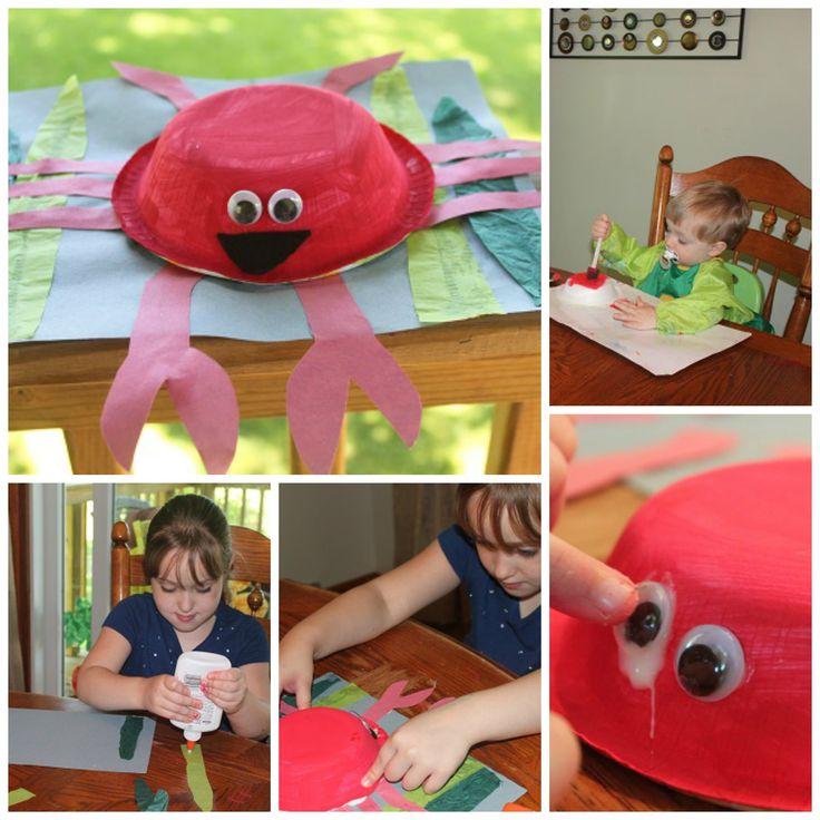 Crab Craft!!  #preschoolactivities