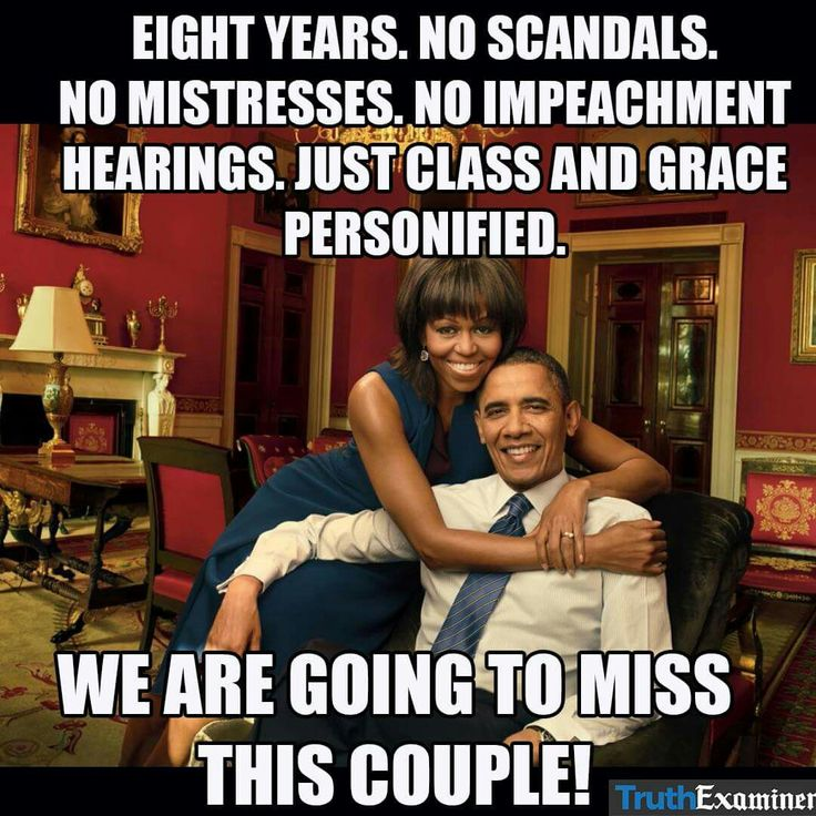 The greatest presidency of all time. The Obamas.