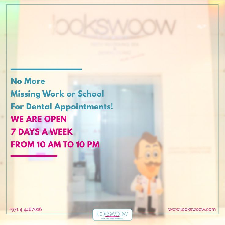 #Lookswoow is here when you need us most. We offer restorative, cosmetic, and orthodontics dental services for the whole family. If you're experiencing dental pain don't wait, give us a call at 04 4487016. Our office is open 7 days a week, from 10:00 am to 10:00 pm, including weekends. :)  #Didyouknow #Lookswoow #bestdentalclinicindubai #mydubai #dubaiclinic #dentaldubai #dubaidental #dubailife #dubai #trends #happy #amazing #friends #instagood #love #fun #summer #beautiful #instamood…