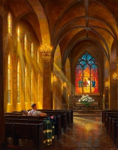 "Thomas Kinkade - We are the ""church,"" and sometimes it's just you and Jesus and that is enough! ♥♥♥"