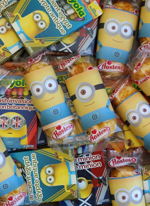 Printable Minion Twinkie Wrappers
