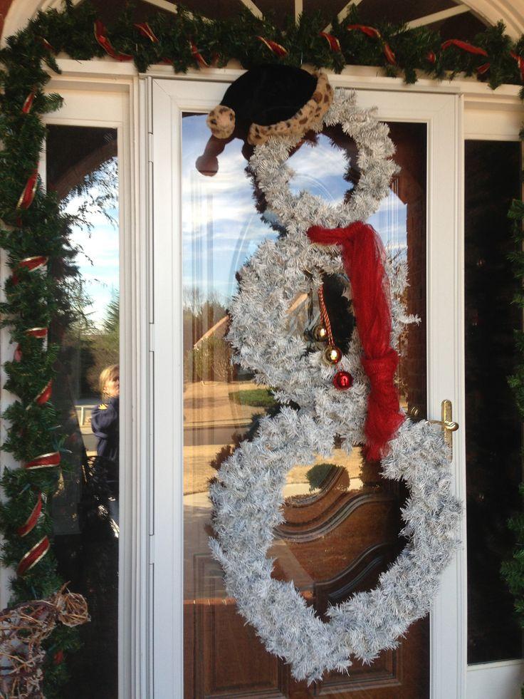 Make Snowman Christmas Tree White Tree