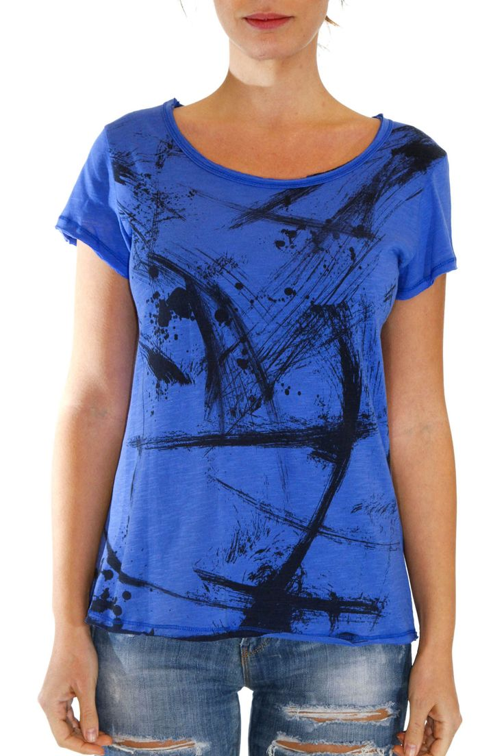 Women T-shirt with original print Runs larger than size Vintage cotton blend  by CLASIFIED.2  #tops #greek4chic