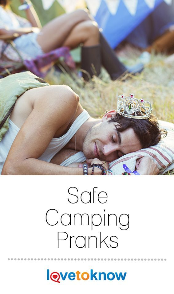 """Safe camping pranks add a dimension of fun to any camping trip. Before you plan on playing any pranks, make sure your """"victims"""" will be good-natured about practical jokes. #camping #pranks #aprilfools 