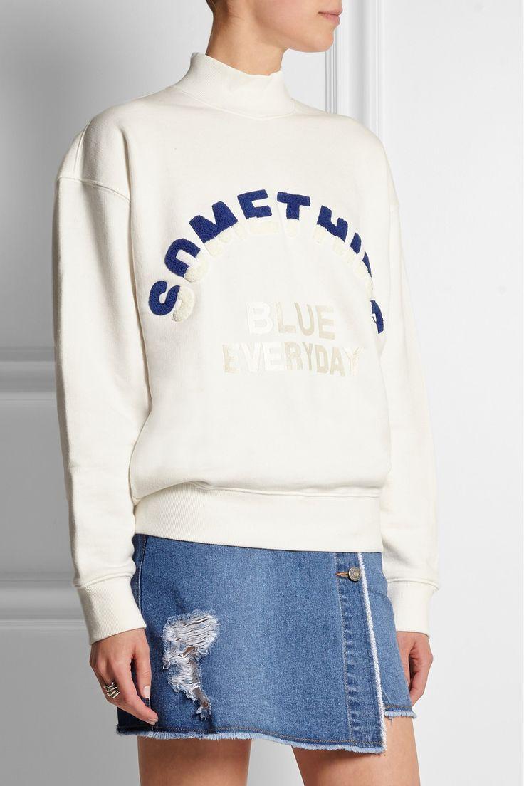 Steve J & Yoni P | Embroidered cotton-jersey sweatshirt | NET-A-PORTER.COM:
