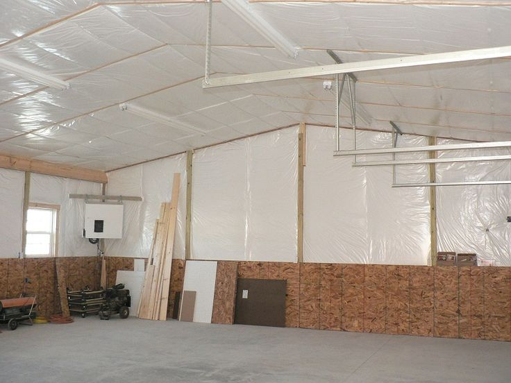Pole Building Insulation In A Scissor Truss Roof And Walls Gives The Clean