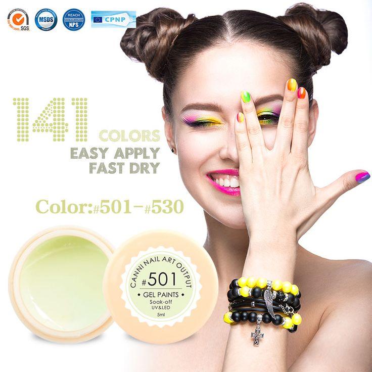 #50618 oem etiqueta privada fabricante uñas de gel canni nuevos productos 2016 Pintura de Uñas de Arte UV Gel Color de uñas de Gel UV/LED Gel de Color