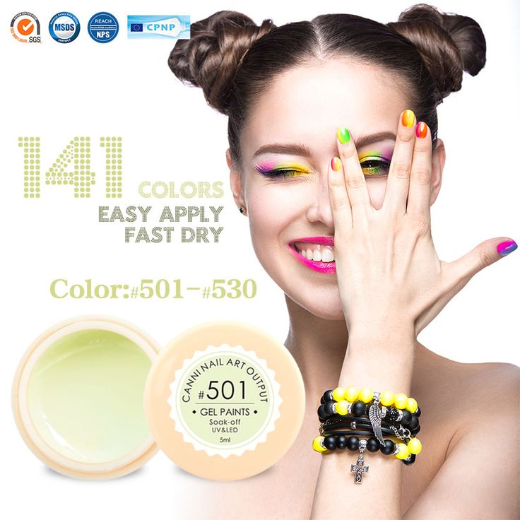 #50618 oem etiqueta privada fabricante uñas de gel canni nuevos productos 2016 Pintura de Uñas de Arte UV Gel Color de uñas de Gel UV/LED Gel de Color