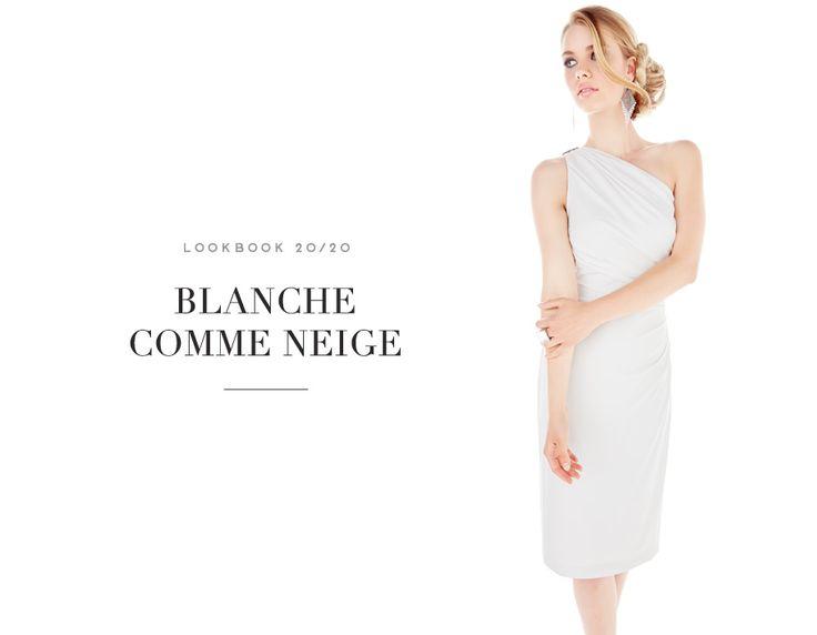 BLANCHE COMME NEIGE  //  GLAM IT UP #pure #elegancy #white #dress #soft #earrings #mode #glam #fashion #femme #women #lookbook #fw16